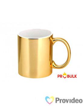 Caneca CROMADA Dourada de Cerâmica 11oz para Sublimação