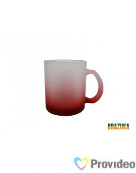 Caneca de Vidro FOSCO para Sublimação - Vermelha 320ml - Brazuka