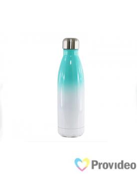 Garrafa de INOX - COLA Bicolor - Branca/Azul 500ml para Sublimação