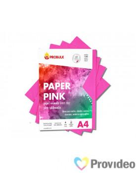 Papel Sublimático PROBULK PINK Paper 100g/m2 - Fundo Rosa - PCT 100 FLS A4