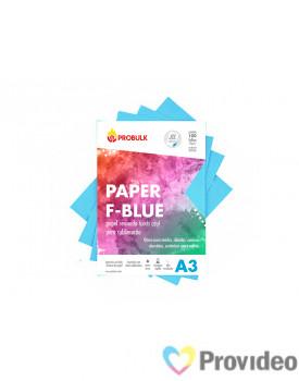 Papel Sublimático PROBULK F-BLUE 90gr/m - Fundo Azul - PCT 100 FLS A3