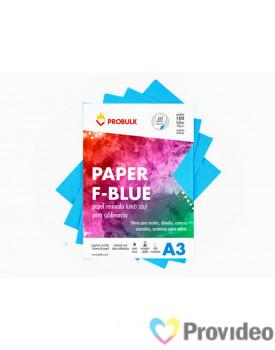 Papel Sublimático PROBULK F-BLUE 110gr/m - Fundo Azul - PCT 100 FLS A3