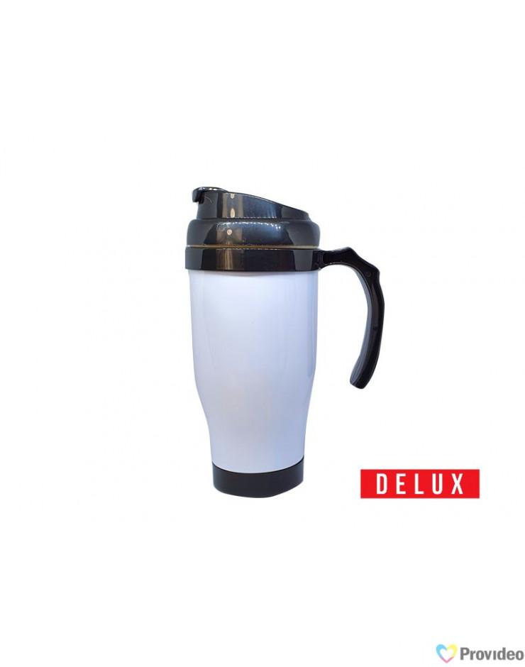 Caneca Plástico Termica DELUX 475ml Sublimação
