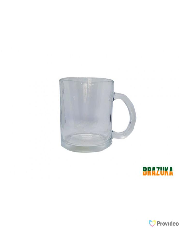Caneca de Vidro Cristal para Sublimação 320ml - Brazuka