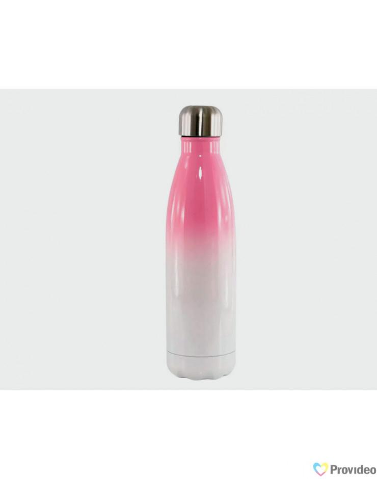 Garrafa de Inox para Sublimação COLA  - Bicolor - Rosa